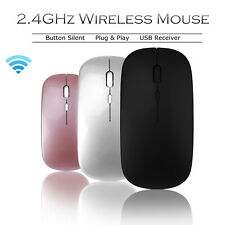 2.4GHz Wireless Mouse Optical Mice Rechargeable Cordless For Macbook Pro Laptop