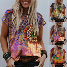 Summer Women Street Trendsetters Short Sleeve T Shirt V Neck Loose Blouse Tops