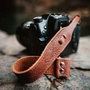 Brown Leather Wrist Strap for DSLR/SLR camera, DSLR Camera Strap