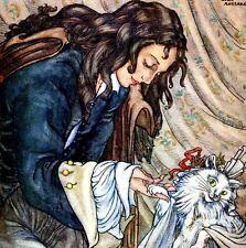 LA CHATTE BLANCHE Éditions Hachette Conte Madame d'Aulnoy Lola Anglada circa1920