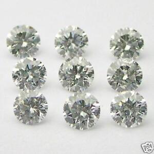 30 1mm WHITE ROUND BRILLIANT POLISHED DIAMONDS G-H VS