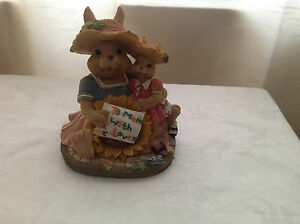 Regency fine arts figurine,rabbits, 'Motherly love', ,Excellent condition!