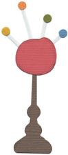 QuicKutz Lifestyle Crafts 2x2 Duo Die PIN CUSHION On Pedestal, Sewing KS-1011