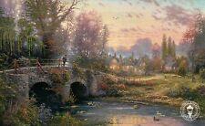"Cobblestone Evening - Bridge - 8 1/2"" x 5 1/4"" -- Thomas Kinkade Dealer Postcard"