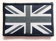 BRITISH UNION JACK CLOTH BADGE retro monochrome velcro patch bag jacket combats