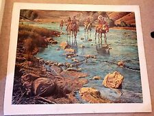 """AUTHARTAGRAPH OIL """"TRAILTHAT LEAVES NONE  BY KUNSTLER, SIGNED 97/1000 2-Scrapes"""