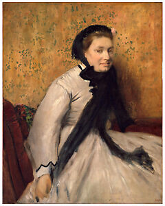 "Impressionism ""Portrait of a Woman in Gray"" Edgar Degas ca. 1865"
