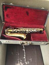 Vintage Buescher Alto Saxophone Brass Musical Instrument