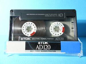 🙈 1x TDK AD 120 * IEC TYPE I 1 * Tape Cassette Kassette кассета Casete * RARE