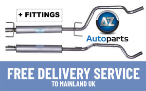 For Vauxhall - Zafira 1.6 1.8 2005-2014 Centre Exhaust Middle Silencer +Fittings