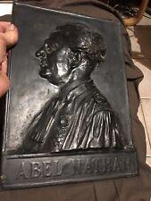 Plaque Bas Relief Bronze Noirci Abel Nathan Avocat Batonnier Marseille 1858/1944