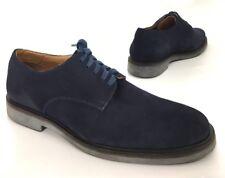 Donald J Pliner Mens Placido Plain Toe Oxfords Shoes Navy Blue Suede Size 9