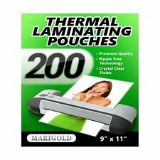 Marigold Thermal Laminating Pouches Film Sheets 3 Mil Letter Size 9x115 200ct