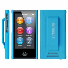 Apple iPod Nano 7th 8th Gen Shockproof Shell Case Cover Built belt Clip Blue