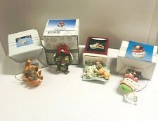 Charming Tails Lot of 3 MacKenzie Christmas Ornaments;1 Hallmark Mouse Ornament
