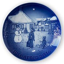 Bing & Grondahl 2016 CHRISTMAS PLATE Hans Christian Andersen's House -NEW / BOX
