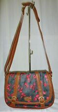NICA - TAN FLORAL SATCHEL BAG - (G2091)