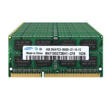 40GB Samsung Kit 10X 4GB 2RX8 DDR3 1066MHz PC3-8500S 204PIN Laptop RAM Memory &N