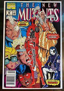 New Mutants #98 Newsstand Copy - 1st Appearance of Deadpool - Filler Copy