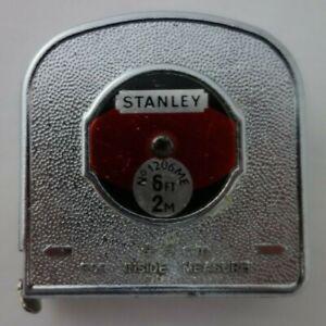 Vintage Stanley 2m/6ft Tape Measure No 1206ME