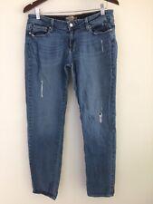 Paige Jeans Women's 30 Boyfriend Canyon Distressed Slim Jeans Med Wash