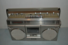 "Panasonic RX-5090 Portable Silver AM/FM Radio Cassette Recorder ""TESTED WORKS"""