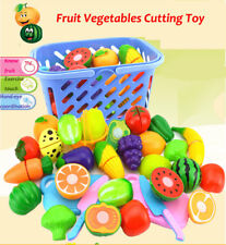 23Pcs/Set Food Pretend Role Play Toys Kitchen Cutting Fruit Vegetable Kids Gift