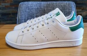 ADIDAS ORIGINALS STAN SMITH OG TRAINERS MENS SIZE 8 UK. WHITE/GRN