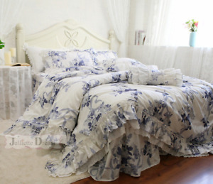 Big Lace Queen Bedding Set Romantic Ruffle Quilt Cover Bedding Set 2021 HOME