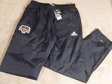 New Mens Adidas Houston Dynamo MLS Soccer Rain Jogging Running Pants Black