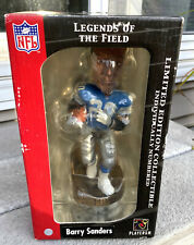 BARRY SANDERS Bobble Head LIMITED EDITION Legends of the Field NFL Gold Base NEW