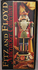 "FITZ & FLOYD CHRISTMAS NUTCRACKER COLLECTION LG ""2003"" POINSETTIA NUTCRACKER NEW"