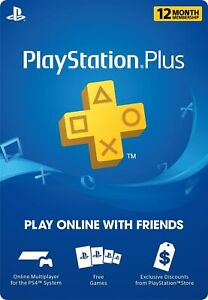 PlayStation Plus (PS+) 12 Month / 1 Year Membership Subscription SHIPPING ONLY