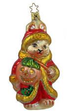 Inge Glas Ltd Ed Hoppy Holiday Bunny 1-182-01 German Glass Christmas Ornament