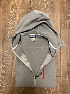 Mens PATAGONIA Performance Full Zip Better Sweater Fleece Hoody Gray Medium