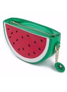 Women's Semicircle Shoulder Watermelon Fruit Mini Novelty Handbag AUS STOCK
