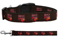 Mirage Beach Lover Nylon Dog Collars and Leash Combo