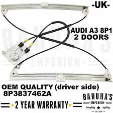 FOR AUDI A3 8P (2003-2013) FRONT RIGHT DRIVER SIDE ELECTRIC WINDOW REGULATOR NEW