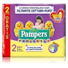 8 PAMPERS progressi pannolini TAGLIA 2. (3-6KG)