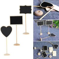5x Wooden Mini Blackboard Chalkboard with Stand Place Wedding Table Number Sign