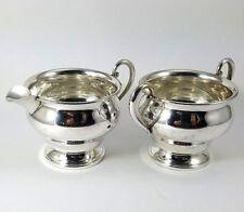 WESTMORELAND AMERICAN Sterling Silver pattern 625 CREAMER & SUGAR BOWLS Vintage