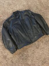 Men's Xelement Leather Black Motorcycle Jacket Size XL Zip-out Liner