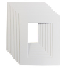 BRIGHT WHITE PICTURE & PHOTO FRAME MOUNTS -All popular sizes and pack quantities
