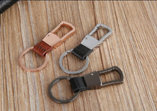 Fashon Durable Keychain Leather Zinc Alloy Key Ring Fine Accessories ZB-009