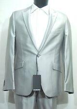 Abito Uomo Pignatelli Grigio Argento Moda Completo giacca pantalone Cerimonia 48