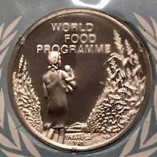 1971 UNITED NATIONS Silver Proof Medal & Stamp SET World Food Programme i65217