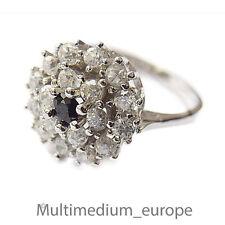 Silber Ring Saphir safir Zirkonia silver ring sapphire zirconia
