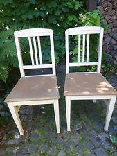 2 Holzstühle Küchenstühle Original 1950-er Jahre Schabby Vintage