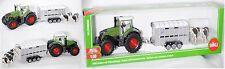 Siku Farmer 1956 Fendt 936 Vario Traktor mit Ifor Williams Viehanhänger 1:50