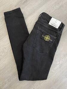 Stone Island Jeans Black SK W32 L34 Skinny Denim - Authentic